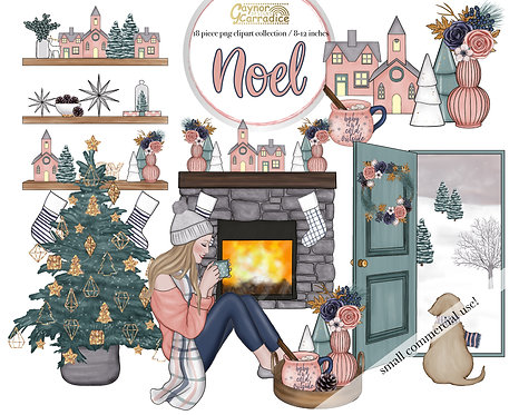 Noel Cozy winter clipart