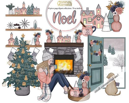 Noel Cozy winter clipart