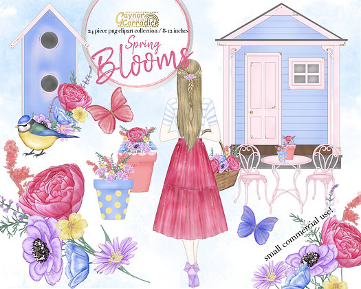 Spring Blooms clipart collection