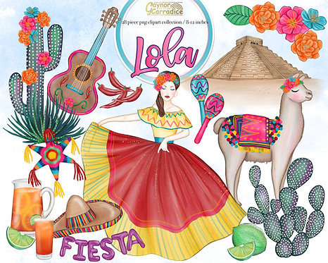 Lola - Mexican Cinco de Mayo clipart collection
