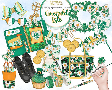 Emerald Isle Planner Clipart