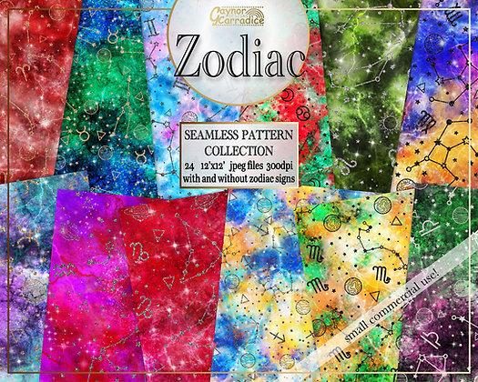 Zodiac Digital Papers