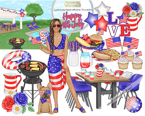 Happy 4th July clipart