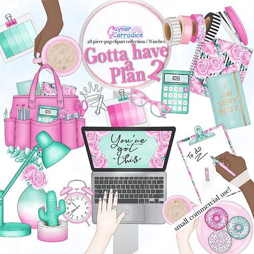 Planner Fashion Clipart Collection 2