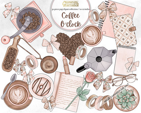 Coffee O Clock Planner clipart