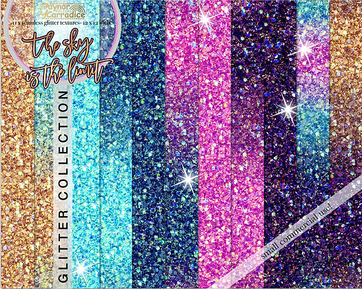 The Sky is the Limit galaxy glitter backgrounds