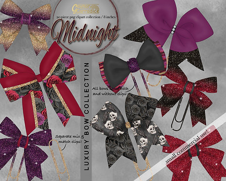 Midnight Bow Clip collection