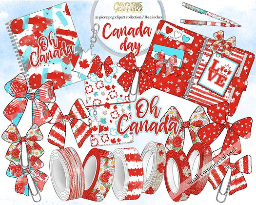 Canada Day Planner Clipart