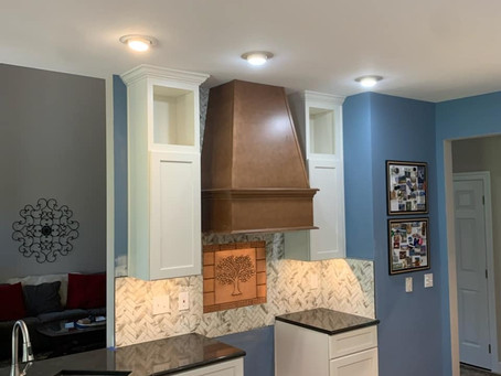 Tru Cabinetry Atwood Door Style, White Maple. Cambria Countertop