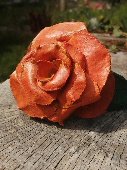 Fleur en cuir