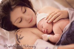 mother and newborn birth photography