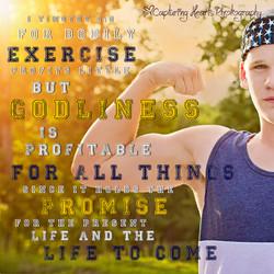 highschool senior workout session