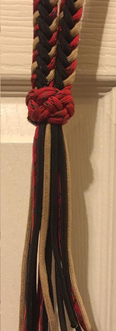 Neck Rope: Red Black Tan