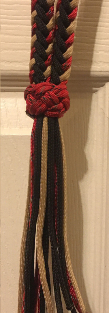 Neck Rope: Red Black Tan