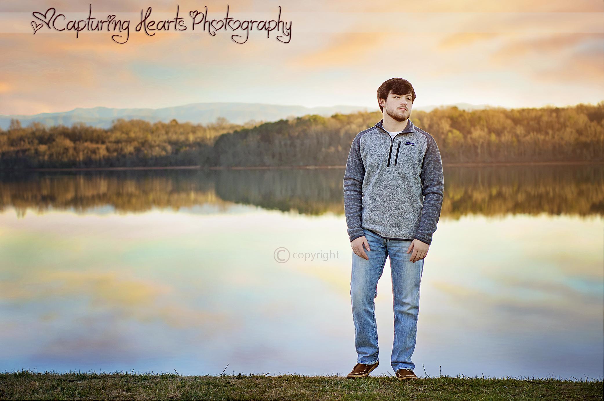 lake sunset highschool knoxville senior photos