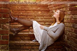 beautiful senior session knoxville tennessee dress brick