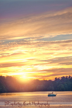 Sunset+Lake+Tennessee+Sailboat