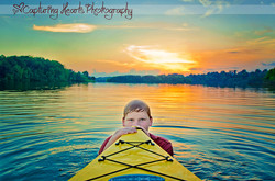 Teen+Bot+Kayaking+Sunset+in+Water+Fine+art+Portrait+Photography+Greeenbak+Tennesssee