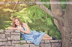 Smiling+Girl+Blu+Dress+Summer+Rock+Wall+Knoxville+Botanical+Gardens+Photographers