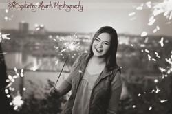 sparkler senior session photography