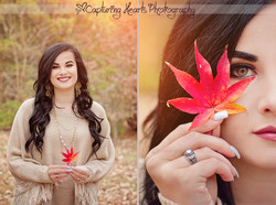 fall leaves highschool senior photos knoxville photography tn