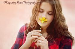 girl with flower college senior 2 web