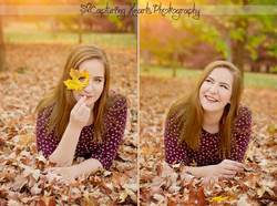 fall leaves senior photography knoxville