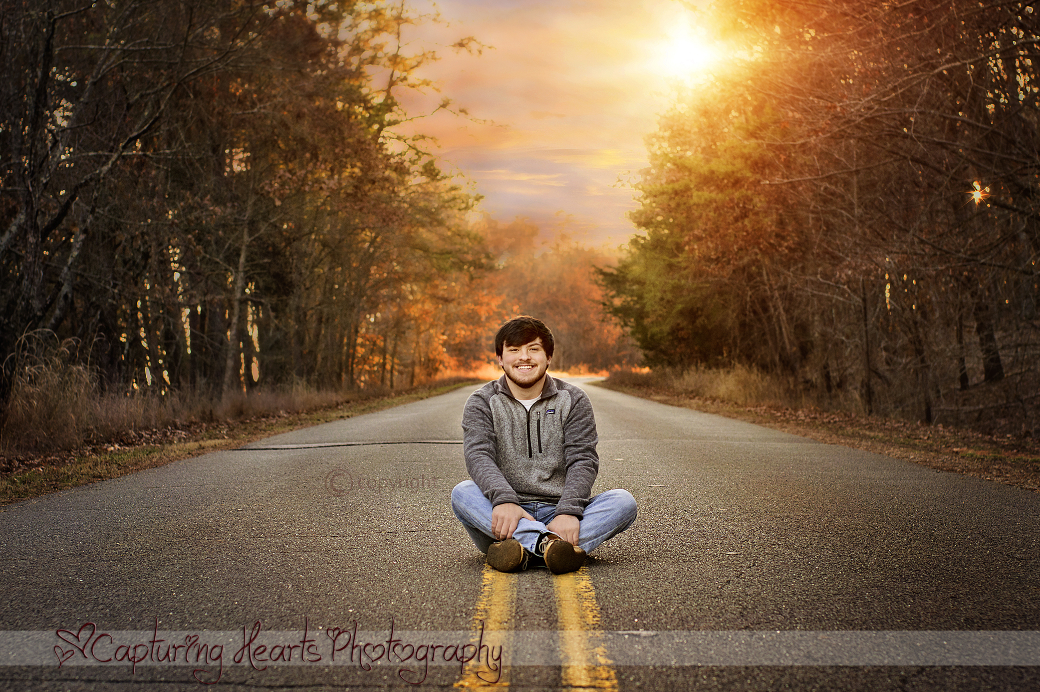 road sunset highschool knoxville senior photos