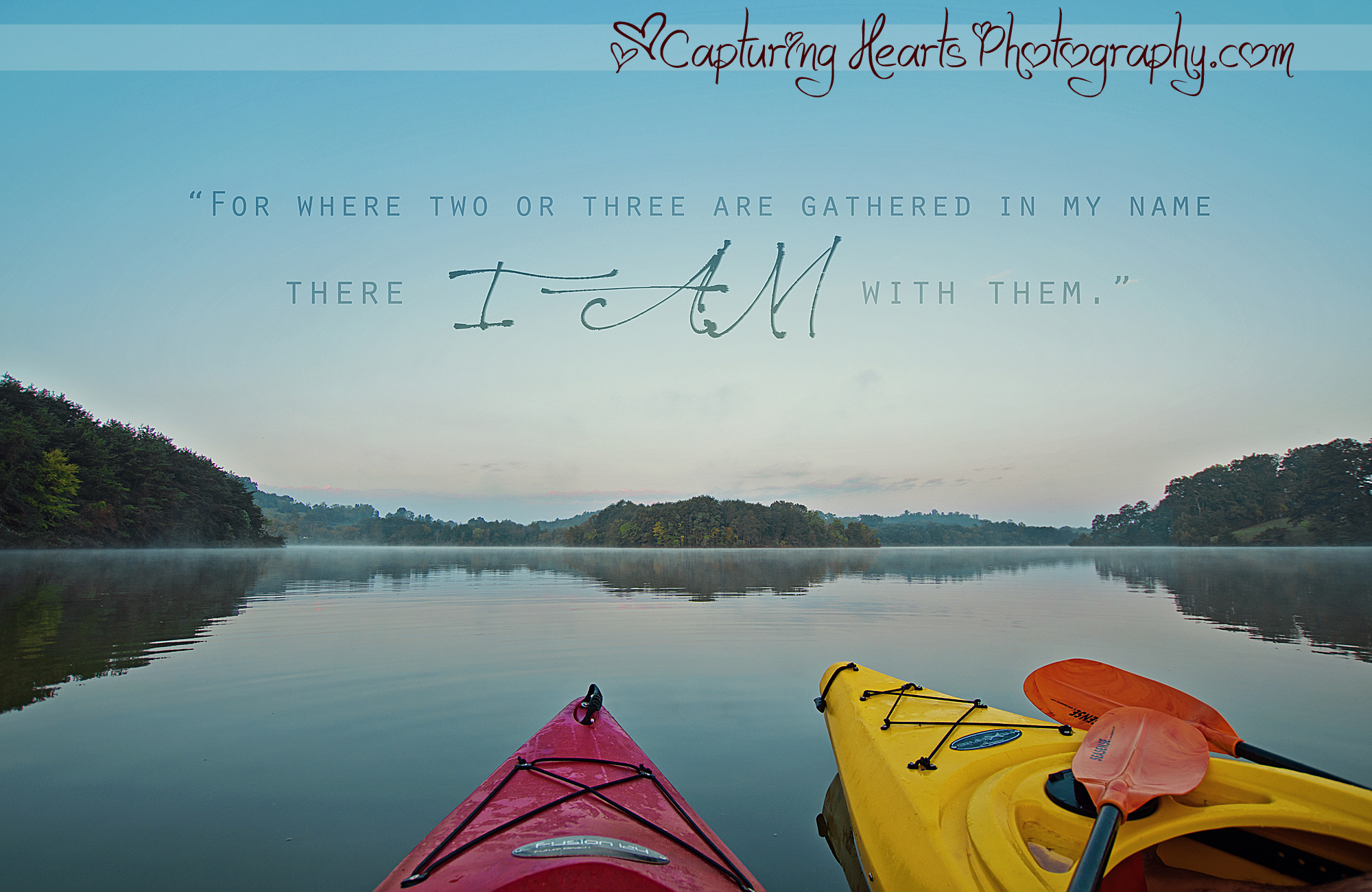 for where two or three are gathered kayaking bible verse web