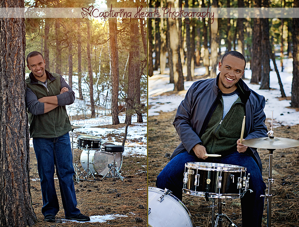 Male+Drummer+in+the+Woods+Snow