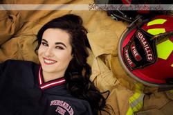 firefighter  highschool senior photos knoxville photography tn