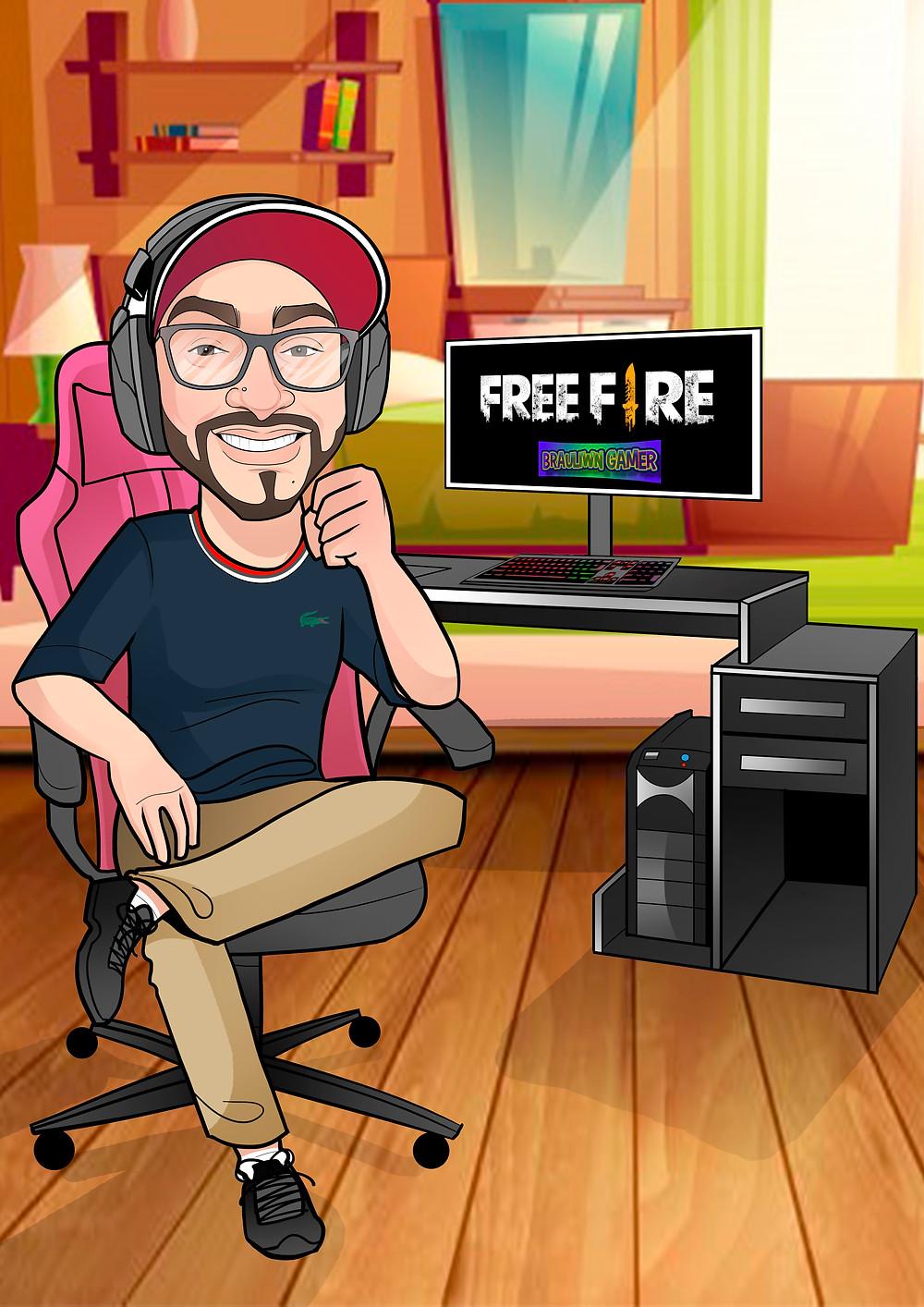 Caricatura Free Fire