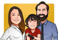 Caricatura Digital - Braian - Background