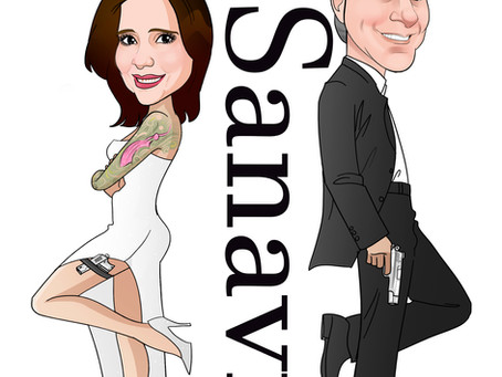 Caricatura Online de Noivos