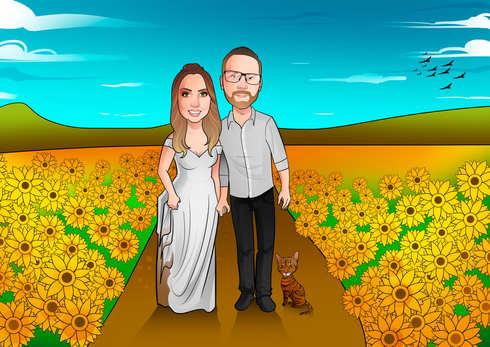 Caricatura Digital noivos.jpg