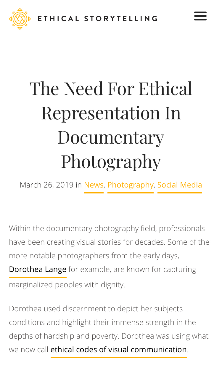 ETHICAL REPRESENTATION WRITTEN ARTICLE