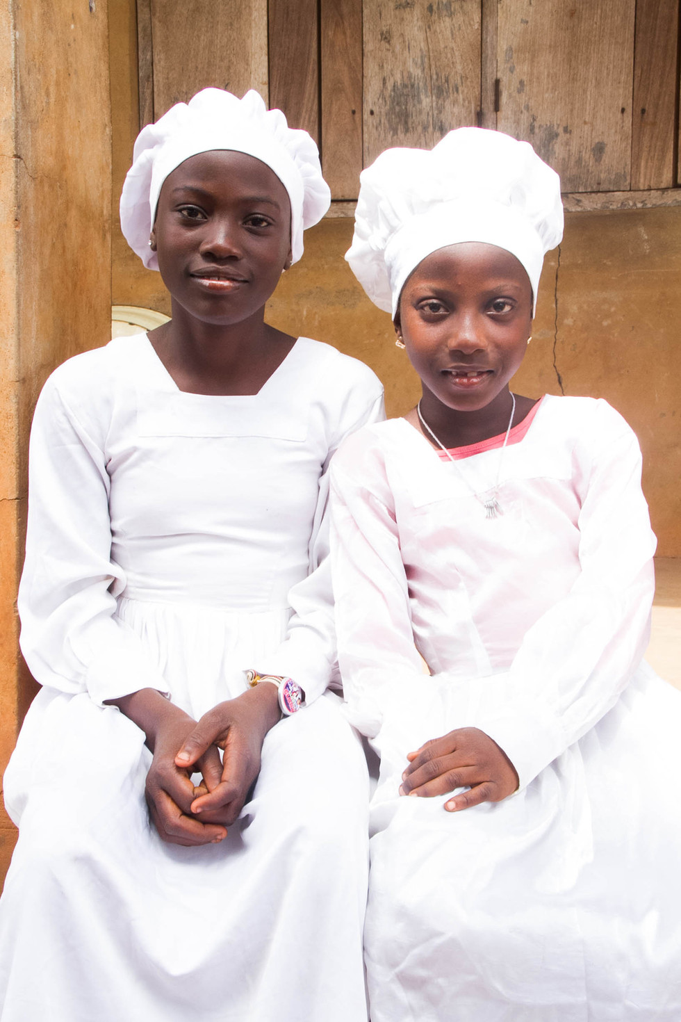 Scabadah's younger cousins posed for a picture.