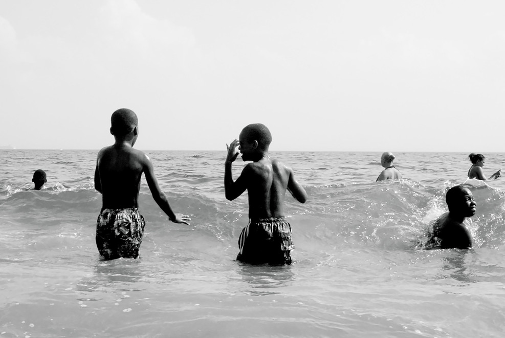 Black Boy Joy, on the beach.