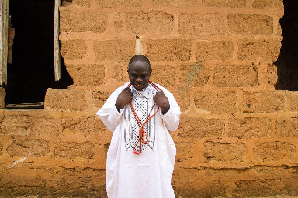 """AGBADA"", {traditional ceremonial garment worn by each male}"