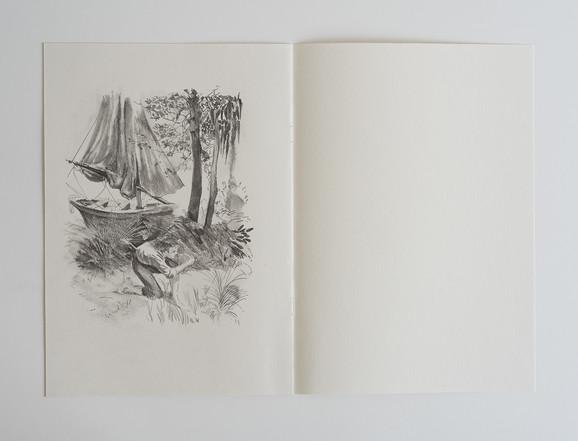 pencil on handmade notebook