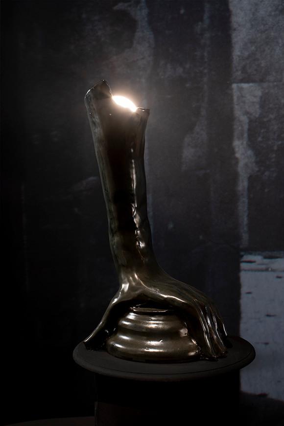 Crypt, Glazed ceramic, lightbulb