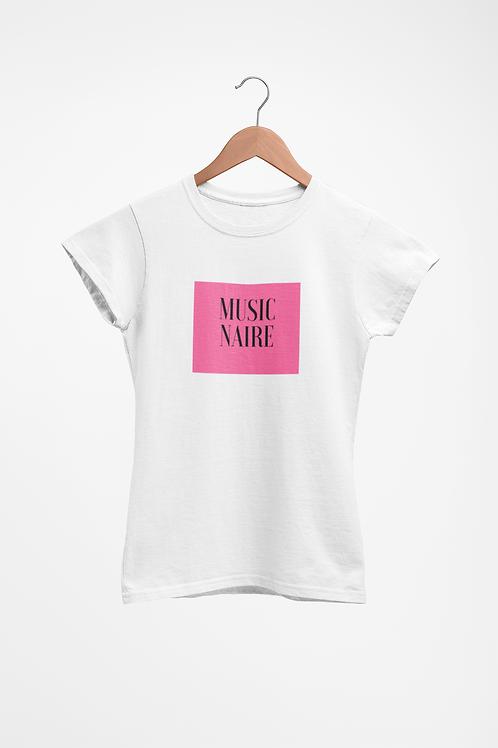 Women White Pink Lemonade Shirt