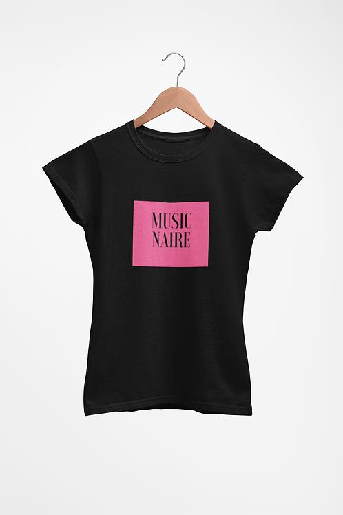 Women Black Pink Lemonade Tee-Shirt