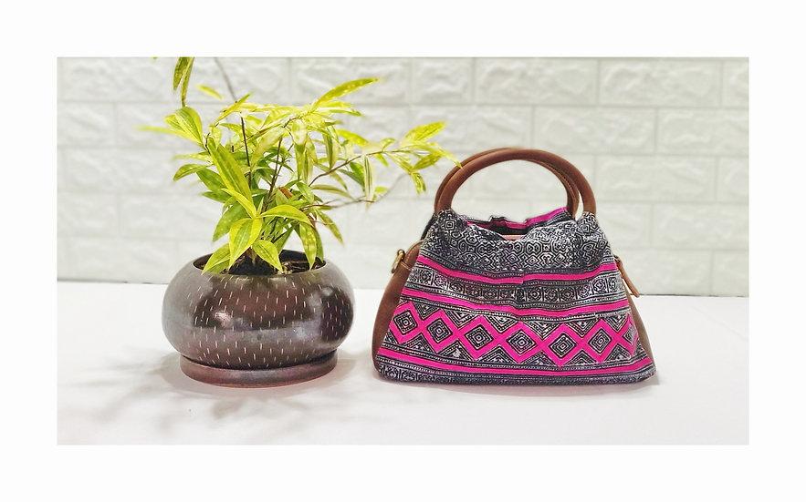 Hmong Handbags,Tribal Bag, Water-splashed Bags, Ethnic Handbag, Purple Purses