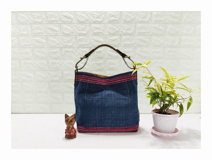 Sarah, Indigo Hobo Bags, Water-splash Bag