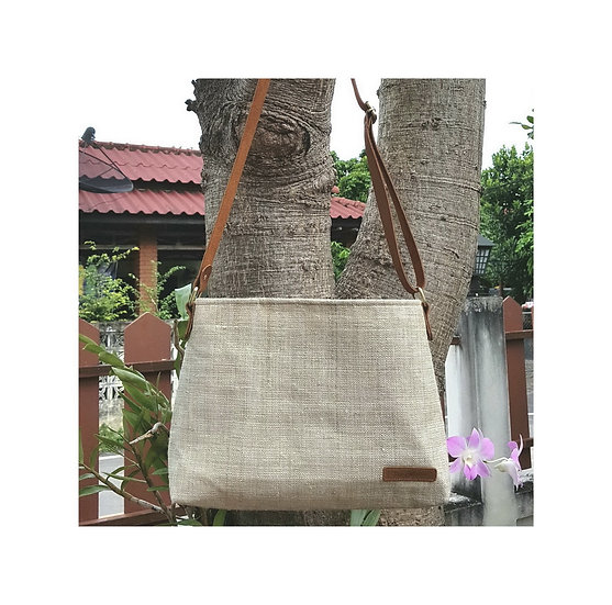 Long Strap Cross Body Bag, Shoulder Bag, Messenger Bag, Ivory white
