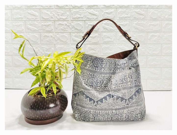 Hobo Bags, Tribal Bag, Hmong Tote Bag,  Water-splash Bag, Indigo Purses