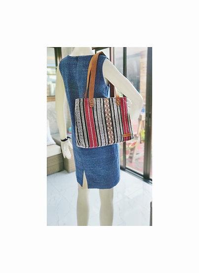 Bohemian Handbags, Tribal Bag, Shoulder Bags, Red / Stripe
