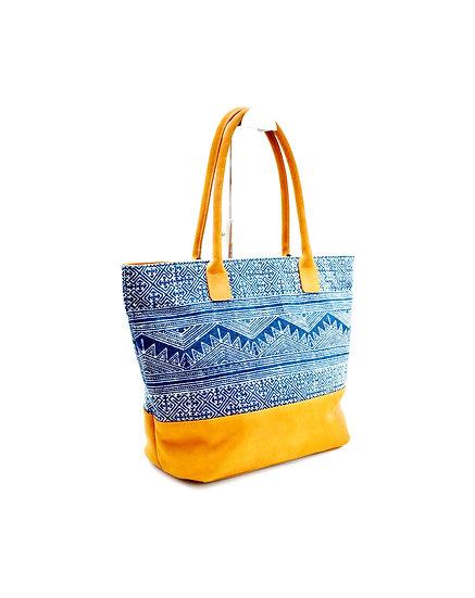 Tribal Bag, Tote, Shopping, Indigo