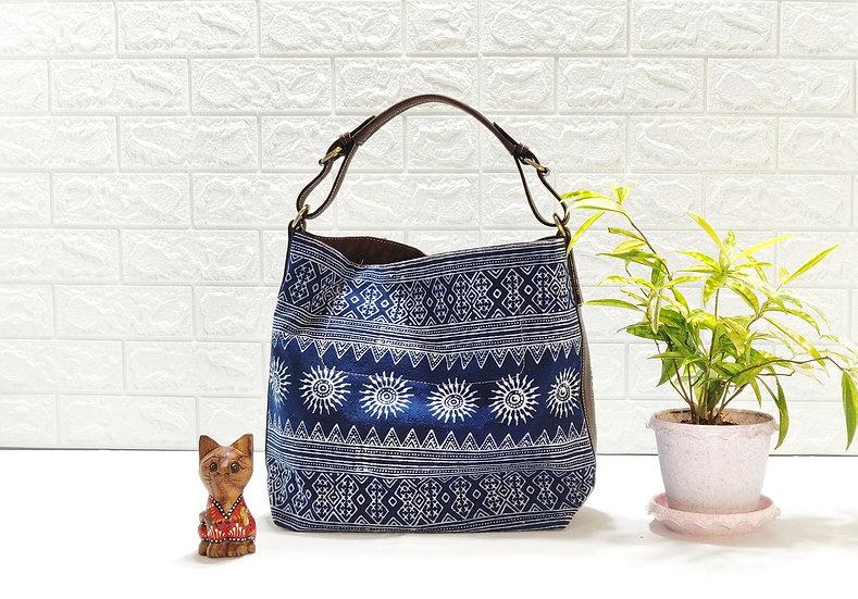 Sarah, Tribal Bag, Hmong Tote Bag,  Water-splash Bag, Indigo Purses